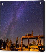 Milky Way Over Old Corral Acrylic Print