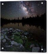 Milky Way Over Pass Lake Acrylic Print