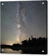 Milky Way Over Schwabacher's Landing Acrylic Print