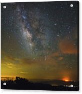 Milky Way Over Tenderfoot Fire Acrylic Print