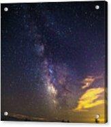 Milky Way Over The Boardwalk Acrylic Print