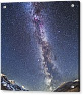 Milky Way Over The Columbia Icefields Acrylic Print