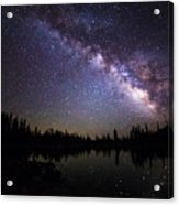 Milky Way Over The Lake Acrylic Print