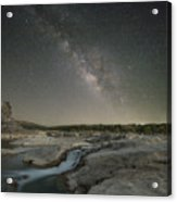 Milky Way Over The Texas Hill Country 2 Acrylic Print