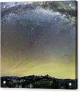 Milky Way Over Yosemite Valley Acrylic Print