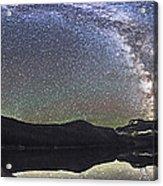 Milky Way Panorama At Cameron Lake Acrylic Print