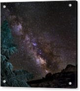 Milkyway At The Mountains Acrylic Print