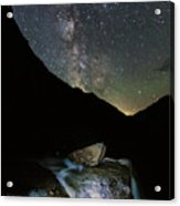 Milkyway Over Haystack Acrylic Print