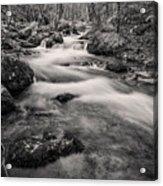 Mill Creek Monochrome Acrylic Print