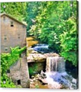Mill Creek Park Lanterman's Mill And Covered Bridge Acrylic Print