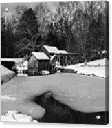 Mill On Ice Acrylic Print