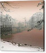 Mill Pond Snow Acrylic Print