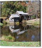 Mill Reflections Acrylic Print