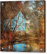 Mill - Walnford, Nj - Walnford Mill Acrylic Print