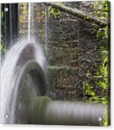 Mill Wheel Acrylic Print by Stefano Piccini