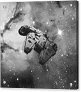 Millennium Falcon And Cosmos Acrylic Print