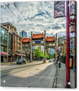 Millennium Gate In Vancouver Chinatown, Canada Acrylic Print