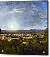 Millet: Sheep By Moonlight Acrylic Print