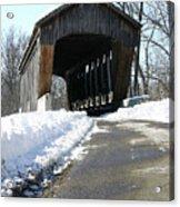 Millrace Park Old Covered Bridge - Columbus Indiana Acrylic Print
