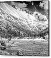 Mills Lake Monochrome Acrylic Print