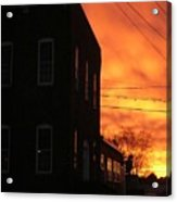 Millyard Sunset Acrylic Print
