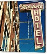 Milshire Hotel Chicago Acrylic Print