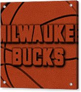 Milwaukee Bucks Leather Art Acrylic Print