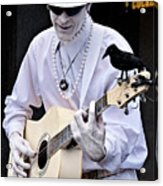 Mime And Guitar Acrylic Print