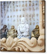 Minature Buddhas Acrylic Print