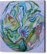Mind Mandala Acrylic Print