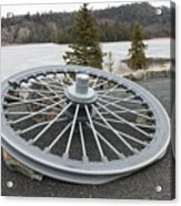 Mine Shaft Wheel Acrylic Print