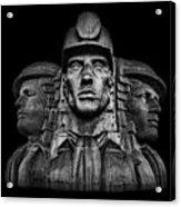 Miners In The Dark Acrylic Print