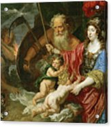 Minerva And Saturn Protecting Art And Science From Envy And Lies  Acrylic Print