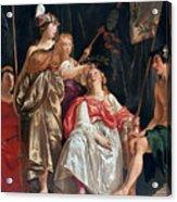 Minerva Crowns The Maid Of Leiden Acrylic Print