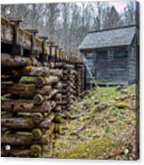 Mingus Millrace And Mill In Late Winter Acrylic Print