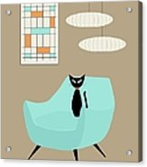 Mini Abstract With Blue Chair Acrylic Print