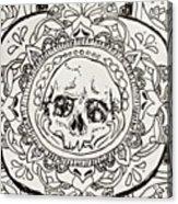 Skull Mandala Acrylic Print