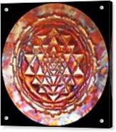 Mini Sri Yantra Kupfer Lichtmandala  Acrylic Print