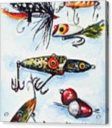 Mini Study- Fishing Lures Acrylic Print