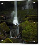 Mini Waterfall In The Forest Acrylic Print