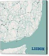 Minimalist Artistic Map Of Lisbon, Portugal 3a Acrylic Print