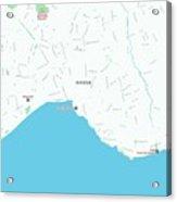 Minimalist Modern Map Of Antalya, Turkey 1 Acrylic Print