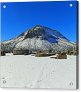 Mining Ruins Foreground A Snowy Mountain Acrylic Print