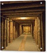 Mining Tunnel Acrylic Print