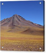 Miniques Volcano And High Altitude Desert Chile Acrylic Print