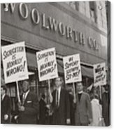 Ministers Picket F.w. Woolworth Store Acrylic Print by Everett