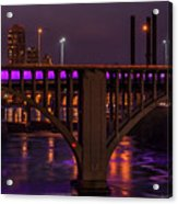 Minneapolis In Purple 4 - Wide Crop Acrylic Print