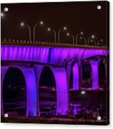 Minneapolis In Purple 6 Acrylic Print