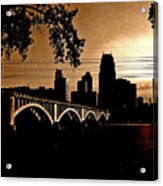Minneapolis Skyline In Copper Acrylic Print