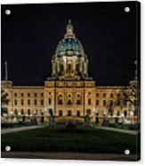 Minnesota Capital At Night Acrylic Print